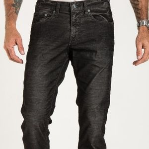 Stitch's Pants - Barfly slim corduroy in black